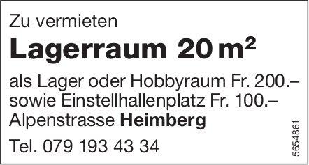 Lagerraum 20 m, Heimberg, zu vermieten