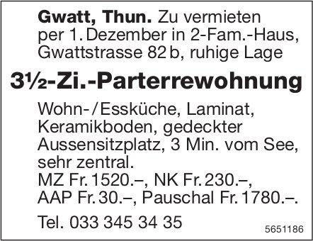 3½-Zi.-Parterrewohnung, Gwatt, Thun, zu vermieten