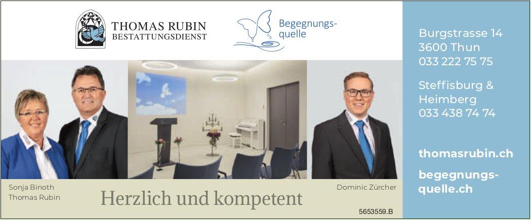 Thomas Rubin Bestattungsdienst, Thun, Steffisburg & Heimberg - Herzlich und kompetent