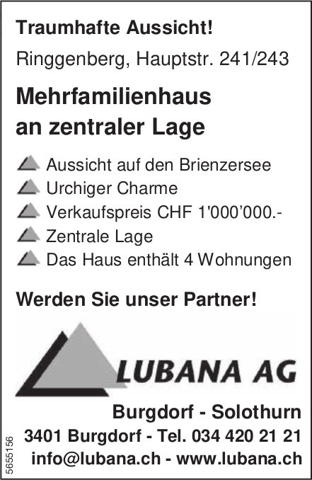 Mehrfamilienhaus an zentraler Lage, Ringgenberg, zu verkaufen