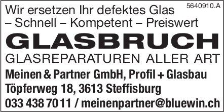 Meinen & Partner GmbH, Steffisburg - GLASBRUCH, GLASREPARATUREN ALLER ART