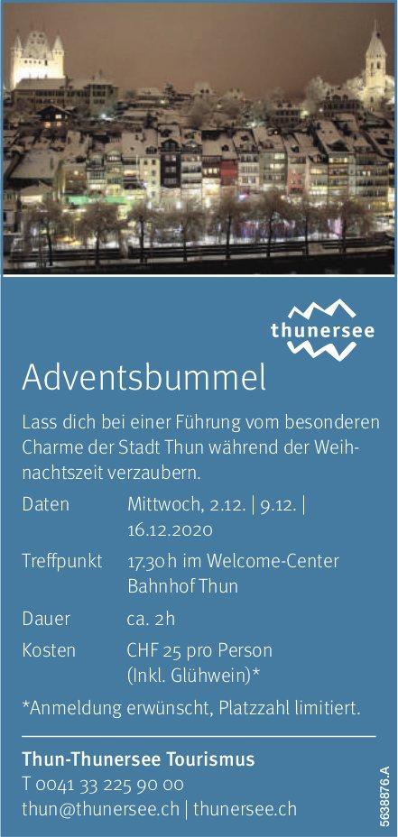 Thun-Thunersee Tourismus - Adventsbummel, 2./9./16. Dezember