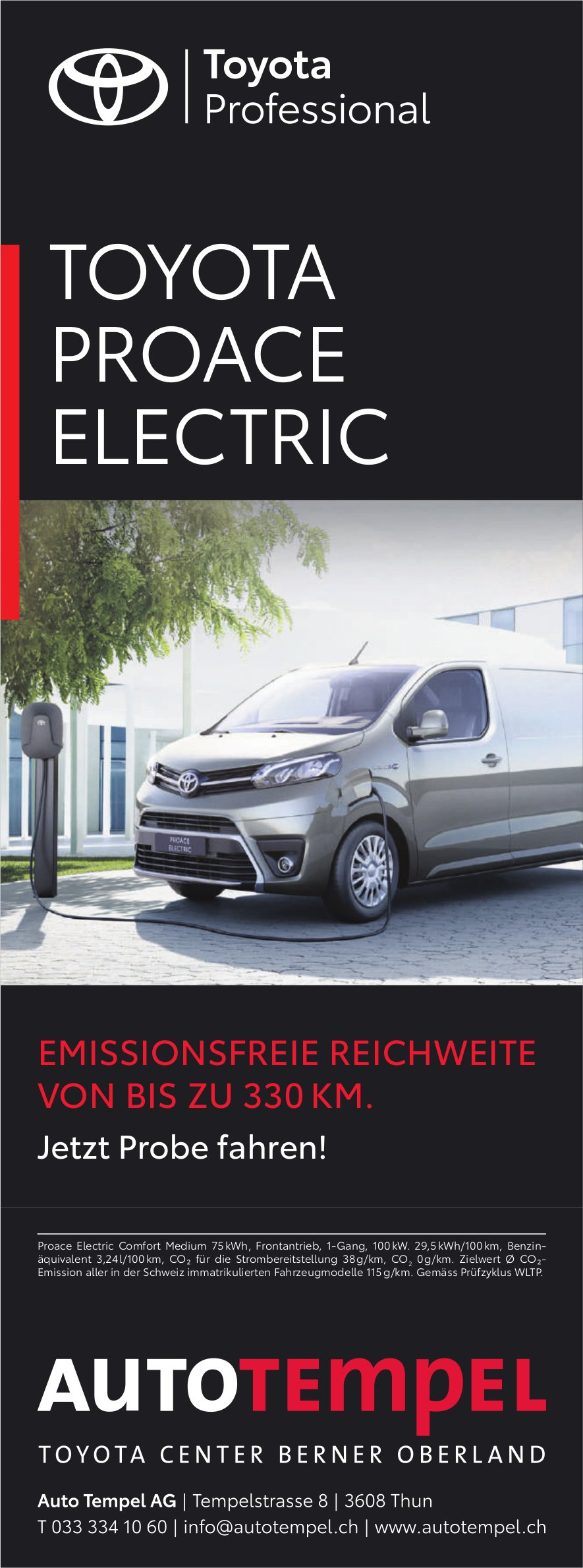 Autotempel AG, Thun - Toyota Proace Electric