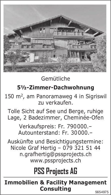 5½-Zimmer-Dachwohnung, Sigriswil, zu verkaufen