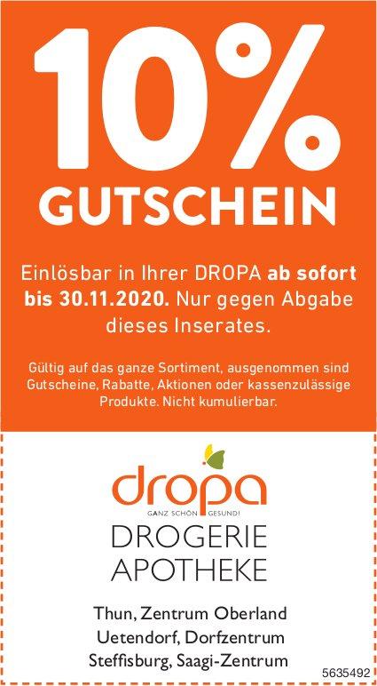 Dropa Drogerien Apotheken, Thun, Uetendorf, Steffisburg - 10% Gutschein