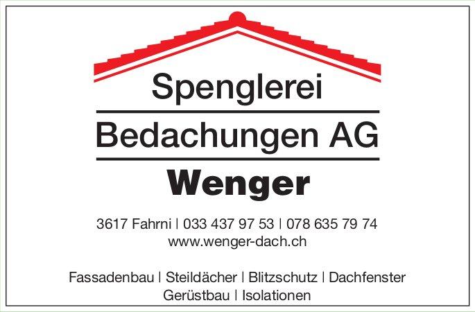Spenglerei Wenger Bedachungen AG, Fahrni - Fassadenbau, Steildächer,  Blitzschutz,  Dachfenster...