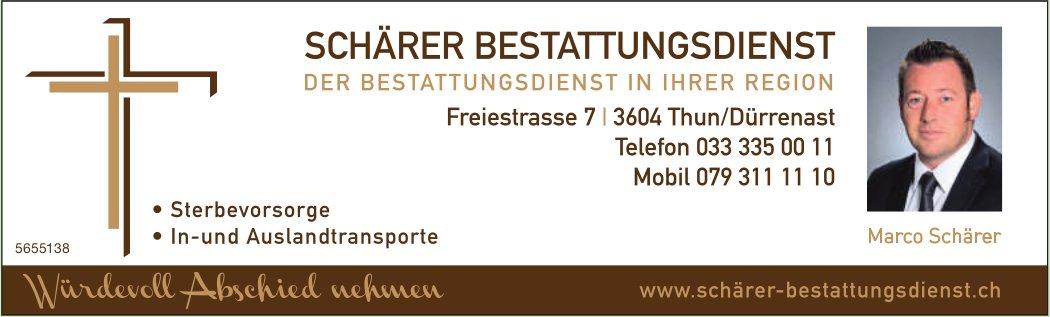 Schärer Bestattungsdienst, Thun/Dürrenast - Der Bestattungsdienst in Ihrer Region