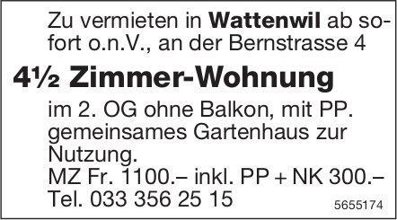 4½ Zimmer-Wohnung, Wattenwil, zu vermieten
