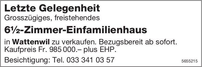 Letzte Gelegenheit, 6½-Zimmer-Wohnung, Wattenwil, zu verkaufen