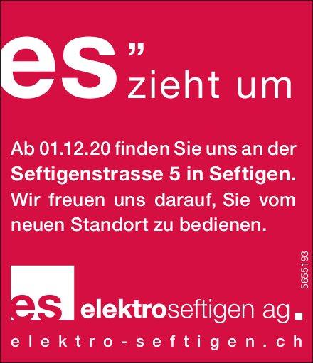 Elektro Seftigen, es zieht um ab 1. Dezember