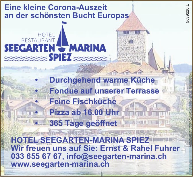 Seegarten Marina, Spiez - Eine kleine Corona-Auszeit an der schönsten Bucht Europas