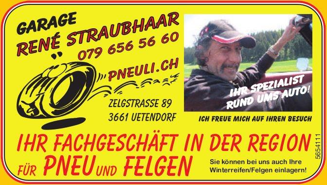 Garage René Staubhaar, Uetendorf - Ihr Fachgeschäft in der Region für Pneu und Felgen