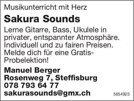 Manuel Berger, Steffisburg - Musikunterricht mit Herz, Sakura Sounds