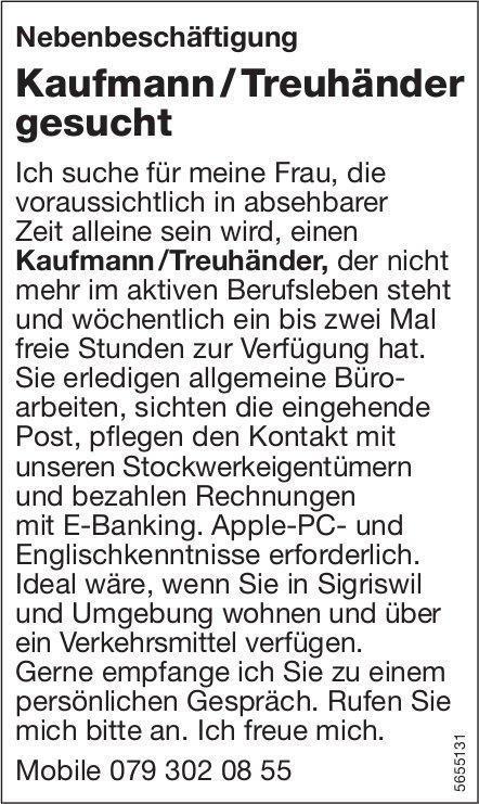 Kaufmann / Treuhänder gesucht, Sigriswil, gesucht