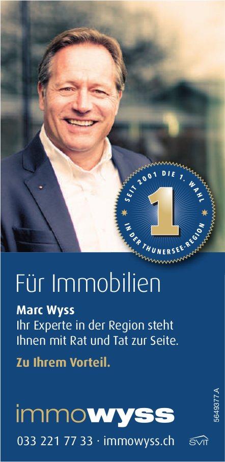 Immowyss - Marc Wyss steht Ihnen mit Rat und Tat zur Seite.