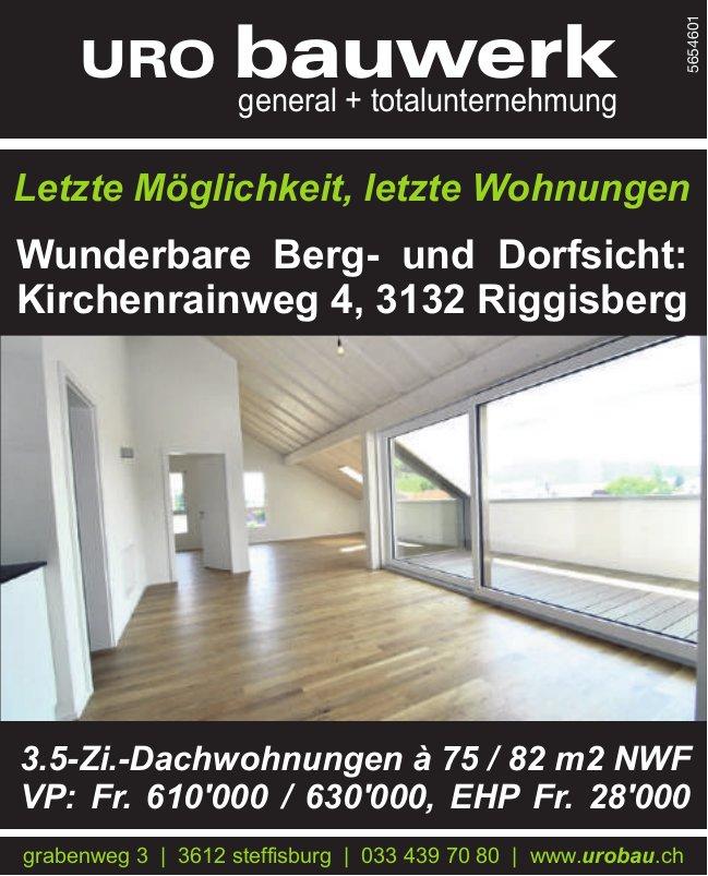 3.5-Zi.-Dachwohnungen, Riggisberg, zu verkaufen