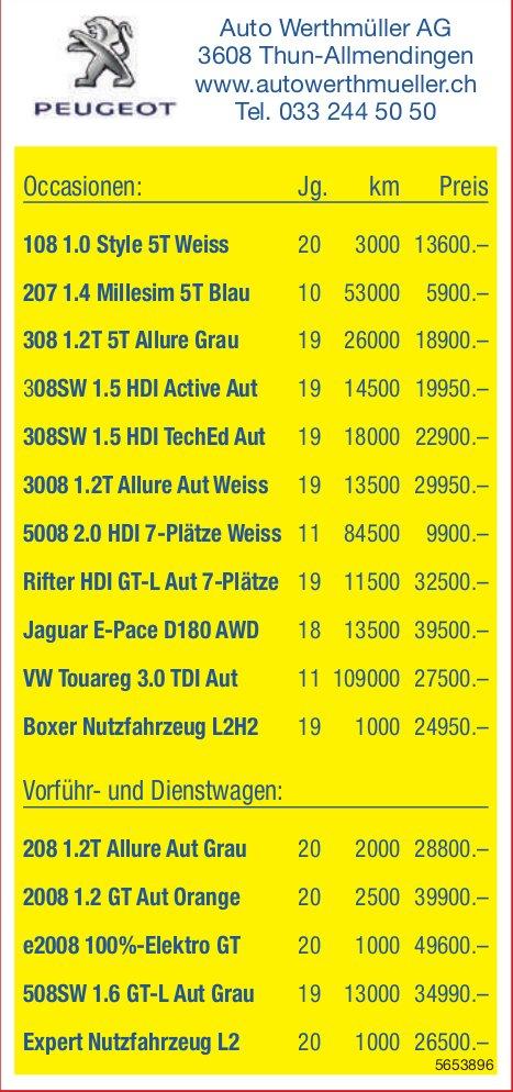 Auto Werthmüller AG, Thun-Allmendingen - Occasionenmarkt