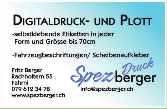 Spezberger Druck, Fahrni - Digitaldruck- und Plott