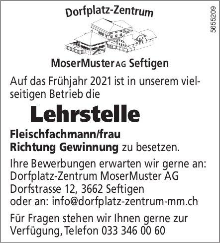 Lehrstelle Fleischfachmann/frau Richtung Gewinnung, MoserMuster AG, Seftigen, zu vergeben
