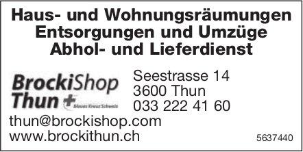 BrockiShop Thun, Thun - Haus- und Wohnungsräumungen