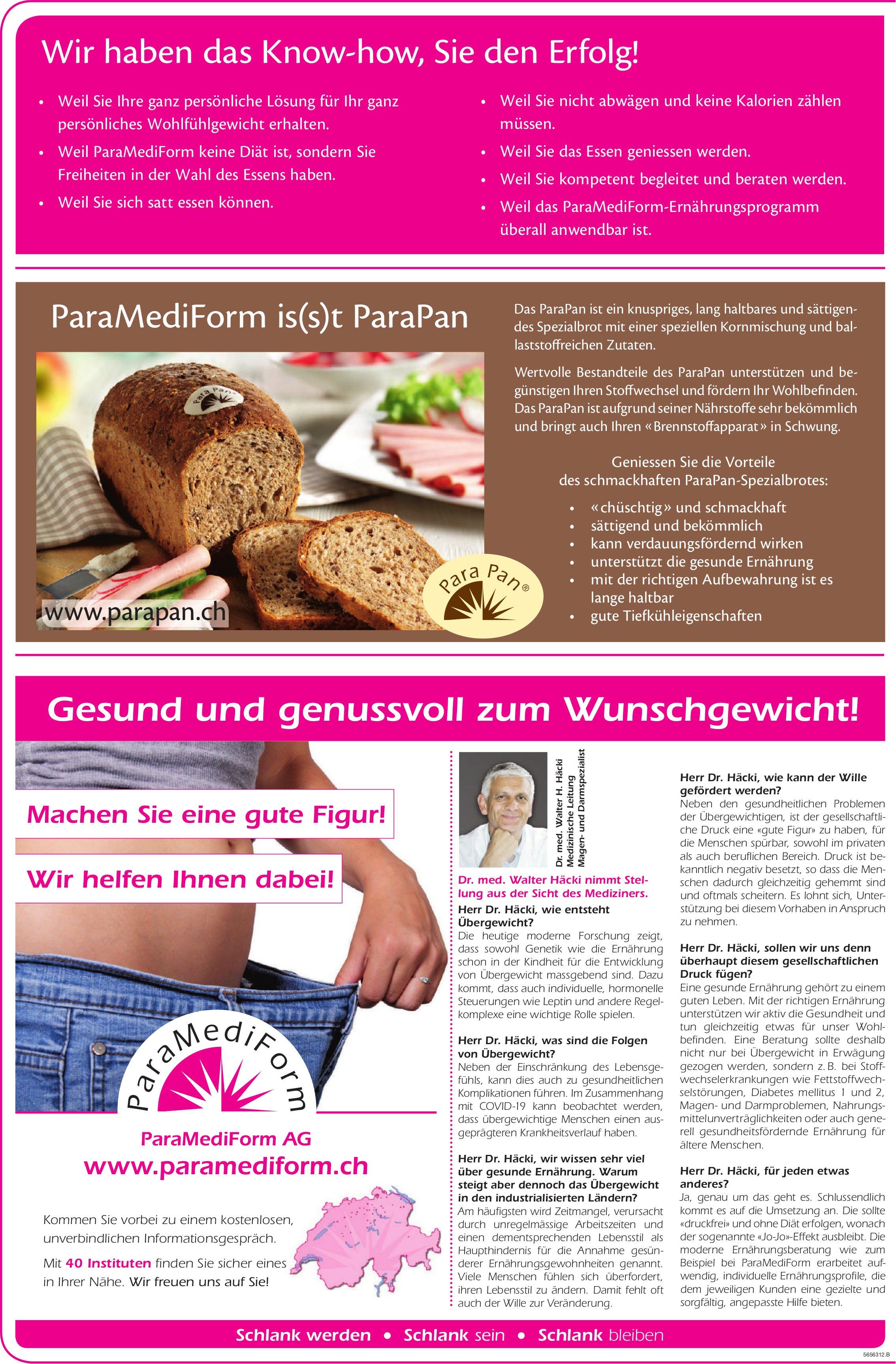 ParaMediForm AG - Wir haben das Know-how, Sie den Erfolg!