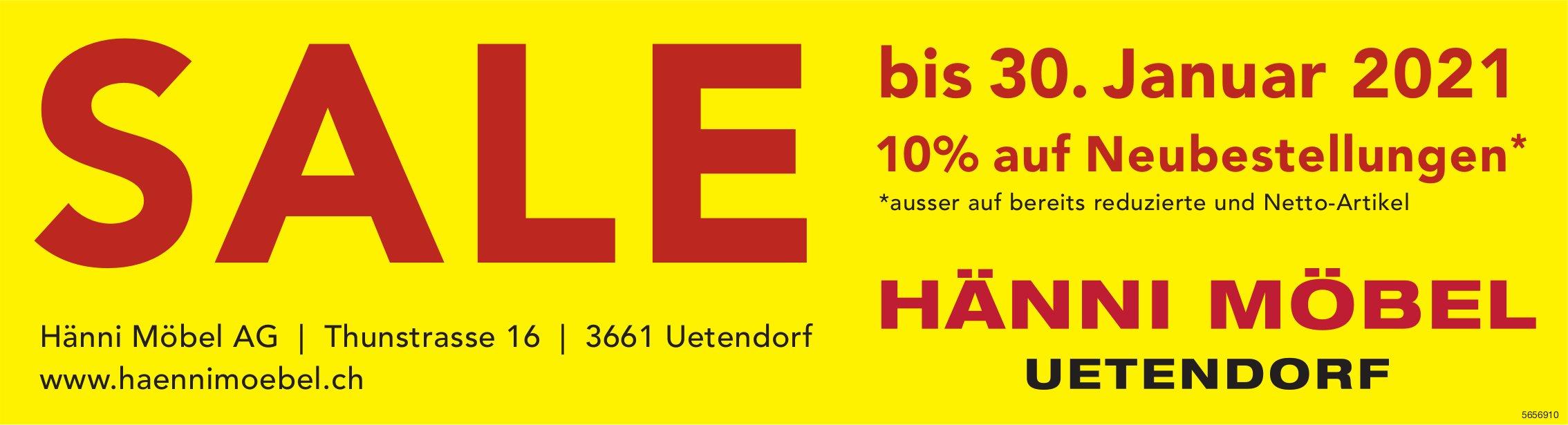 Sale bis 30. Januar - Hänni Möbel AG, Uetendorf