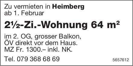 2½-Zi.-Wohnung 64 m, Heimberg, zu vermieten