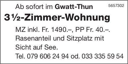 3 ½-Zimmer-Wohnung, Gwatt/Thun, zu vermieten
