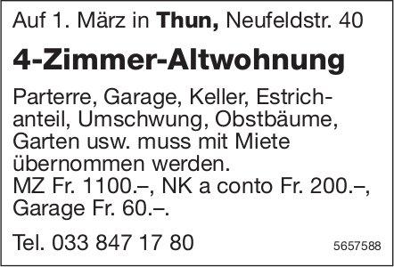 4-Zimmer-Altwohnung, Thun, zu vermieten