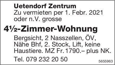 4½-Zimmer-Wohnung, Uetendorf Zentrum, zu vermieten