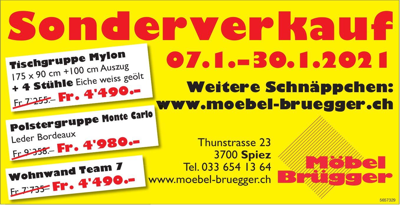Möbel Brügger - Sonderverkauf, bis 30. Januar, Spiez