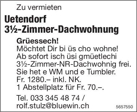 3½-Zimmer-Dachwohnung, Uetendorf, zu vermieten