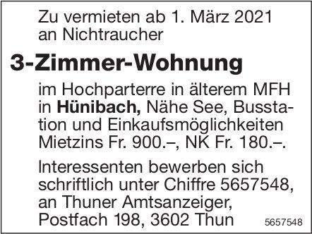 3-Zimmer-Wohnung, Hünibach, zu vermieten