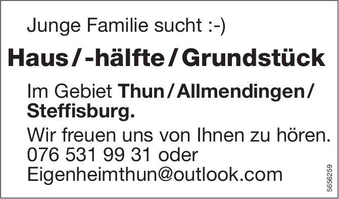 Haus / -hälfte / Grundstück im Gebiet Thun/Allmendingen/Steffisburg., Allmendingen, zu kaufen gesucht