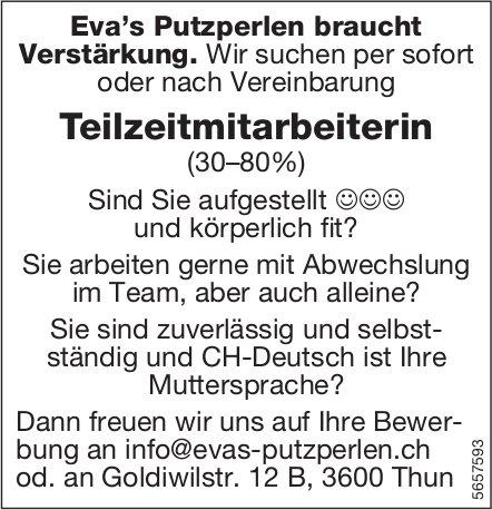 Teilzeitmitarbeiterin (30–80%), Eva's Putzperlen, Thun, gesucht