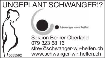 Schwanger wir helfen, Sektion Berner Oberland - Ungeplant Schwanger!?