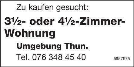 3½- oder 4½-Zimmer-Wohnung, Thun, zu kaufen gesucht