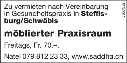 Möblierter Praxisraum in Gesundheitspraxis, Steffisburg/Schwäbis, zu vermieten