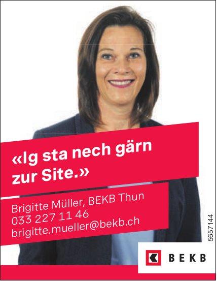 BEKB, Thun - «Ig sta nech gärn zur Site.» Brigitte Müller