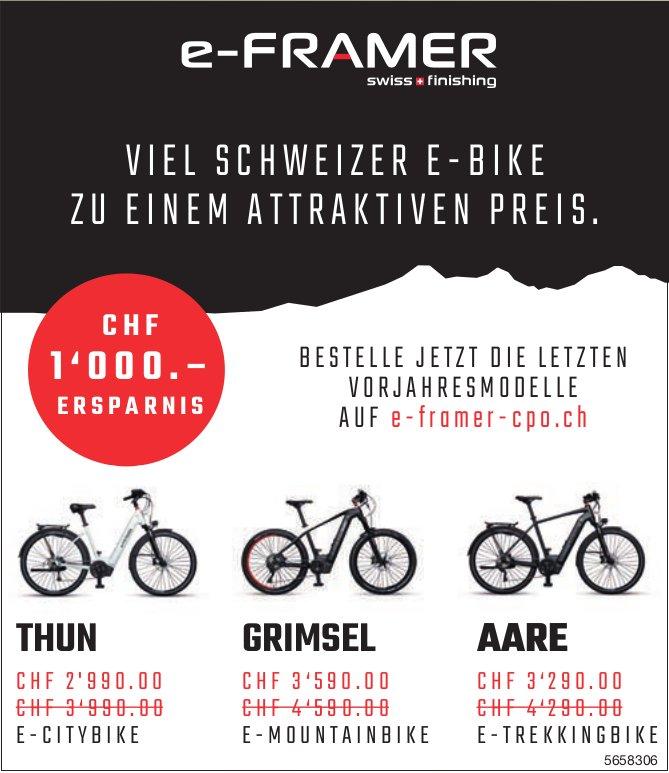 E-Framer - Viel Schweizer E-Bike zu einem attraktiven Preis.