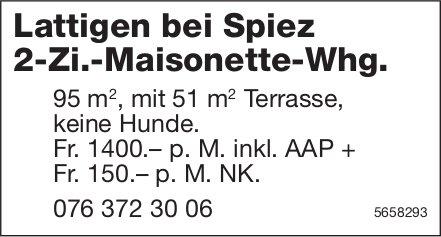 2-Zi.-Maisonette-Whg., Lattigen bei Spiez, zu vermieten