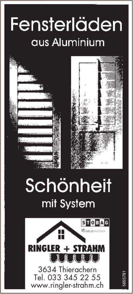 Ringler + Strahm, Thierachern - Fensterläden aus Aluminium, Schönheit mit System