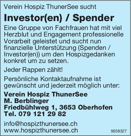 Investor(en) / Spender, Verein Hospiz ThunerSee, Oberhofen, gesucht