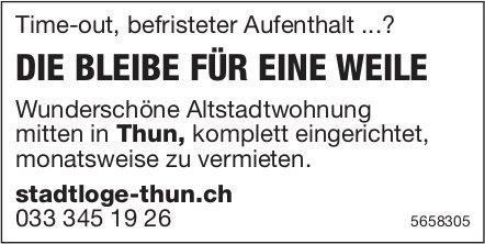 Wunderschöne Altstadtwohnung, Thun, zu vermieten