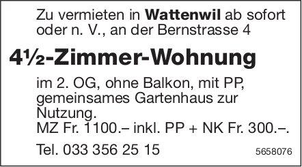 4½-Zimmer-Wohnung, Wattenwil, zu vermieten