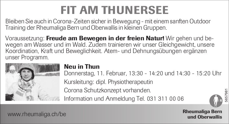 Rheumaliga - Fit Am Thunersee, 11. Februar, Bern