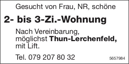 2- bis 3-Zi.-Wohnung, Thun-Lerchenfeld, zu mieten gesucht