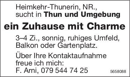 Ein Zuhause mit Charme, 3-4 Zi., Thun und Umgebung, zu mieten gesucht