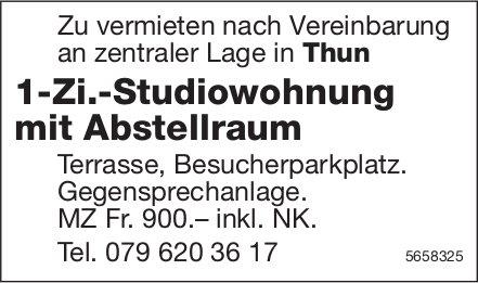 1-Zi.-Studiowohnung mit Abstellraum, Thun, zu vermieten