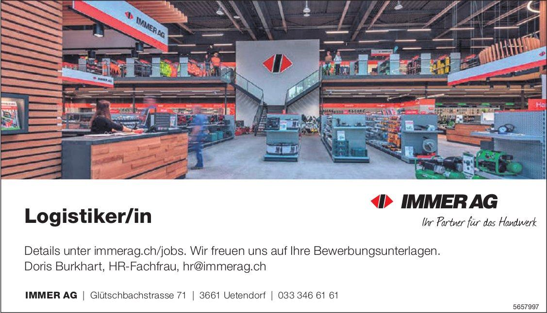 Logistiker/in, Immer AG, Uetendorf, gesucht